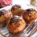 White Choclate Brioche with Dark Chocolate Drizzle