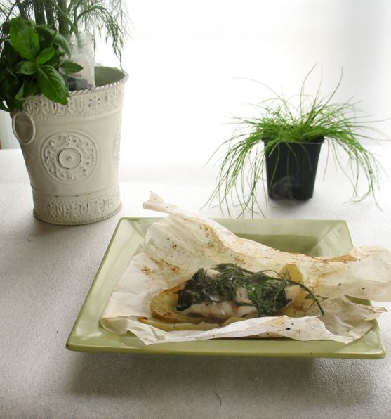 Grouper with Fennel en Papillote