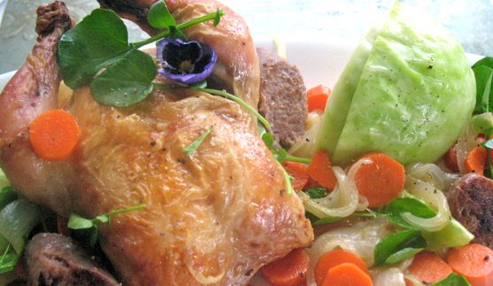 Cornish Game Hen with Cabbage – Le Cordon Bleu Style