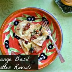Orange Basil Butter Ravioli by Angela Roberts