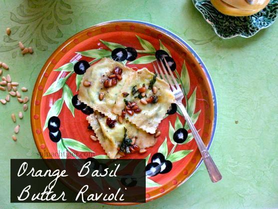 Orange Basil Butter Ravioli by Angela Roberts