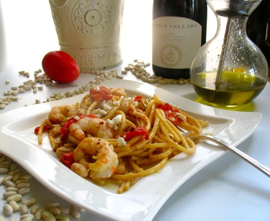 Big Fat Healthy Shrimp Recipes with Pasta from Spinach Tiger