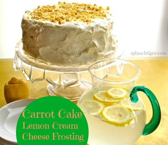 Carrot cake with lemon cream cheese frosting is a nice twist on a ...