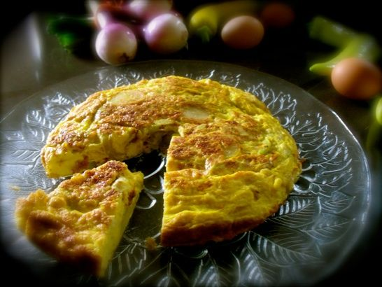 Frittata with Yellow Squash, Yellow Peppers