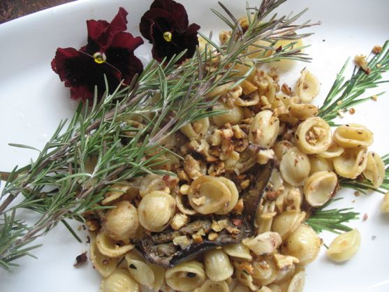 Rosemary Walnut Pasta with Eggplant