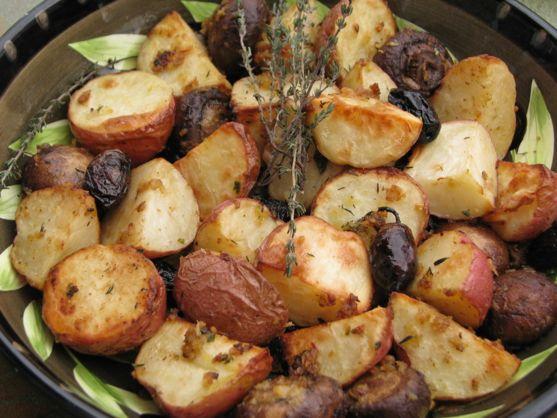 Dijon Mustard Roasted Potatoes by Angela Roberts