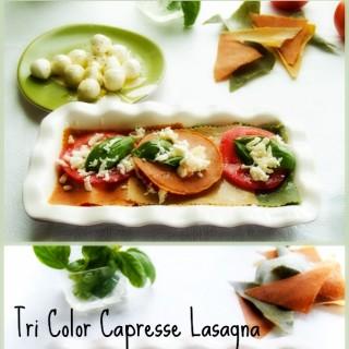 Tri Color Lasagna alla Caprese