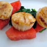 Grilled Watermelon with Seared Wild Scallops