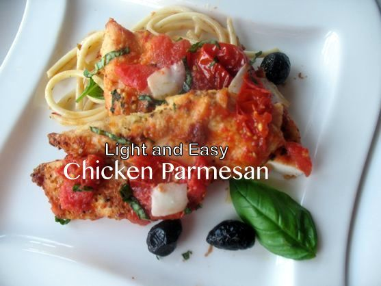 Light Chicken Parm, Healthy Chicken Pasta Recipes from Spinach Tiger