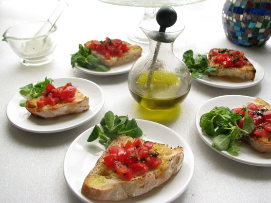 Authentic Italian Tomato Bruschetta