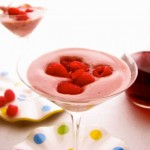 Cold Zabaglione with Red Wine with Raspberries