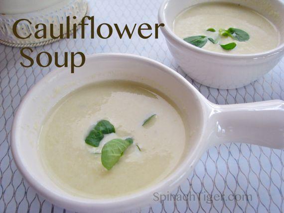 Low Carb Cauliflower Recipes: Cauliflower Soup