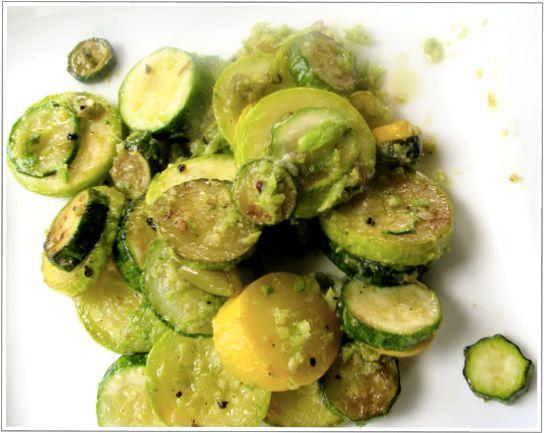 Zucchini Garlic Scape Pesto