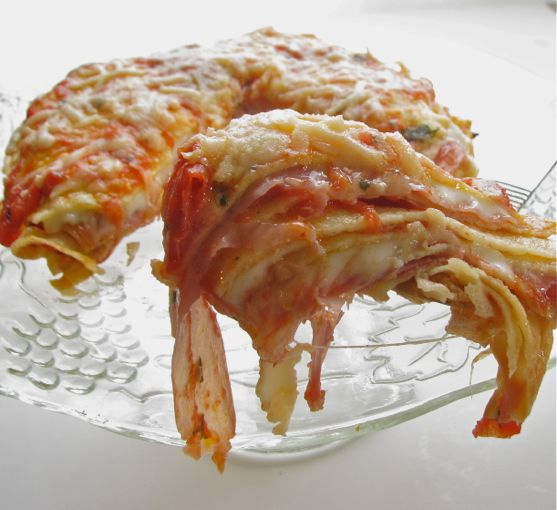 Crespells with Mozzarella and Proscuitto by Angela Roberts