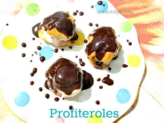 Profiteroles with Hot Fudge Sauce