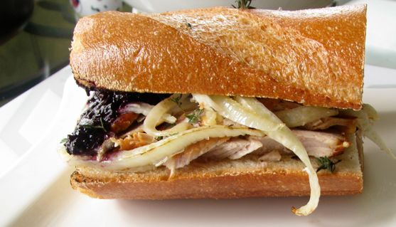 Purple Food: Muscadine Grapes and Dressing Up a Pork Sandwich