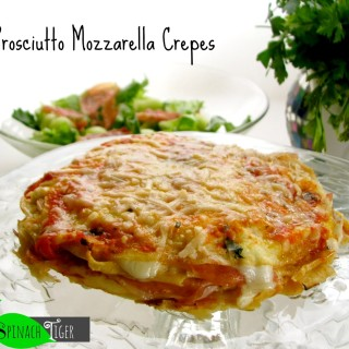 Cooking Italy: Crespelles with Prosciutto, Fresh Tomato and Mozzarella
