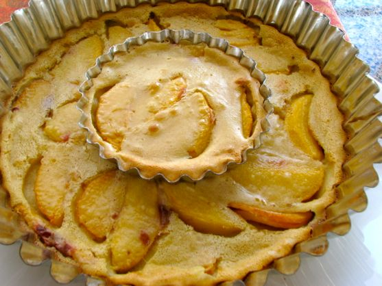 Peach Clafoutis, a Different Kind of Peaches and Cream, and a Word about Natasha