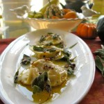 Capellacci, Ravioli Filled with Sweet Potatoes, Sage Brown Butter
