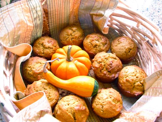 Pumpkin Muffins with Cinnamon Glaze and the Cheekwood Scarecrows