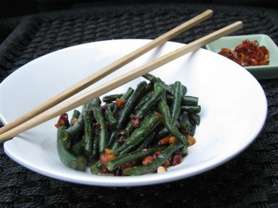 Spicy Yard Long Green Beans by Spinach Tiger