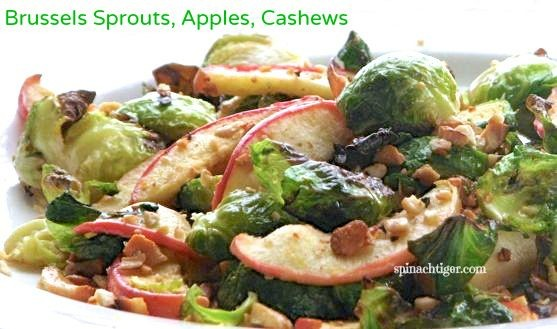Roasted Brussells Sprouts, Apples, Cashews by Angela Roberts