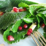 Salad of Cabbage Sprouts, Pomegranate, Vinaigrette