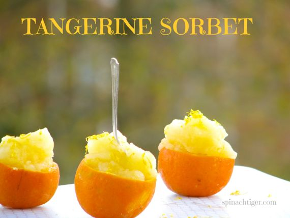 Tangerine Sorbet and Roasted Chestnuts say It's Thanksgiving
