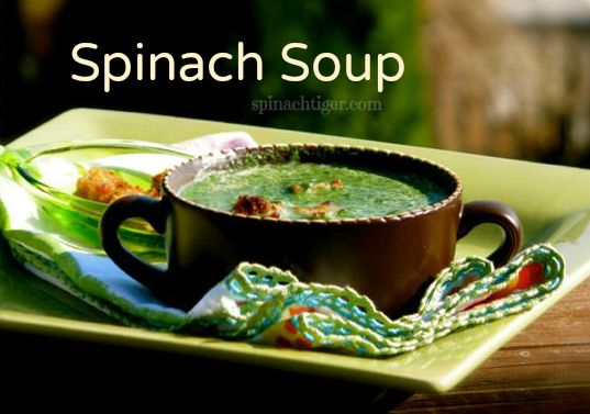 Spinach Soup by Angela Roberts