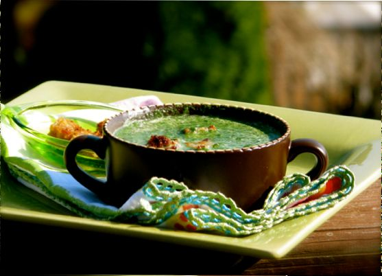 Cooking Italy – Spinach Soup with Crostini and a little Spinach 101