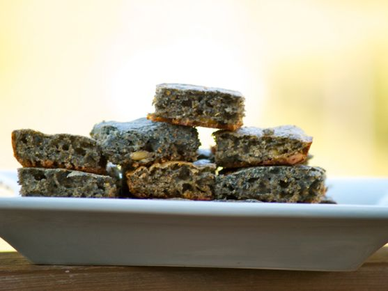 Blue Corn Bread with Pine Nuts