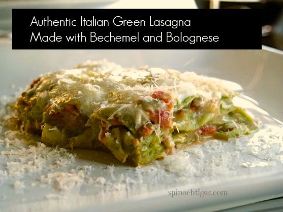 Green Lasagna with Bolognese by Angela Roberts