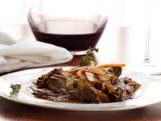 Pot Roast of Beef Braised in Red Wine, Mashed Potatoes