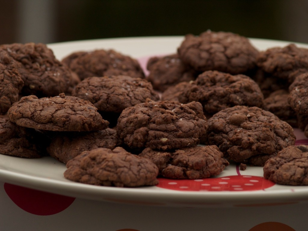 Christmas Cookies: Salty Nutty Double Chocolate Cookies from Spinach Tiger