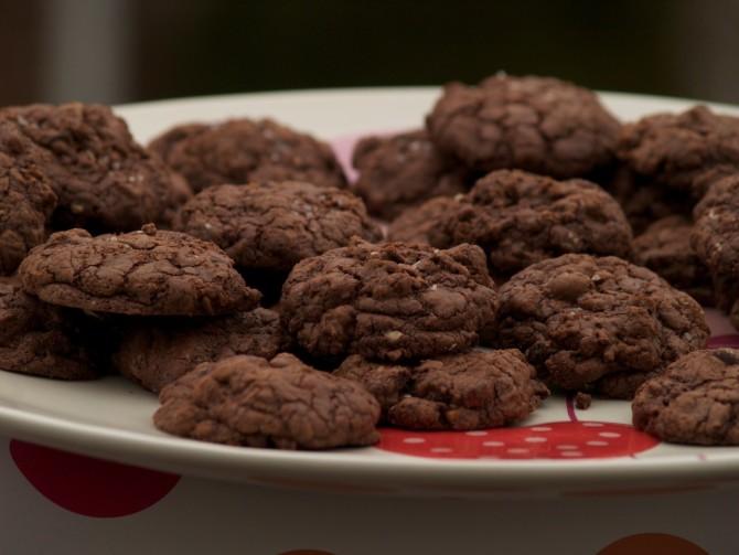 Triple Salty Double Chocolate Pecan Cookies Mudslides by angela roberts