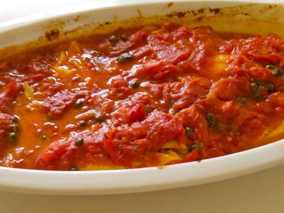 Filet of Sole with Tomato, Oregano, Hot Pepper