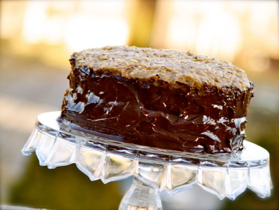 German Chocolate Cake with Caramel Irish Cream