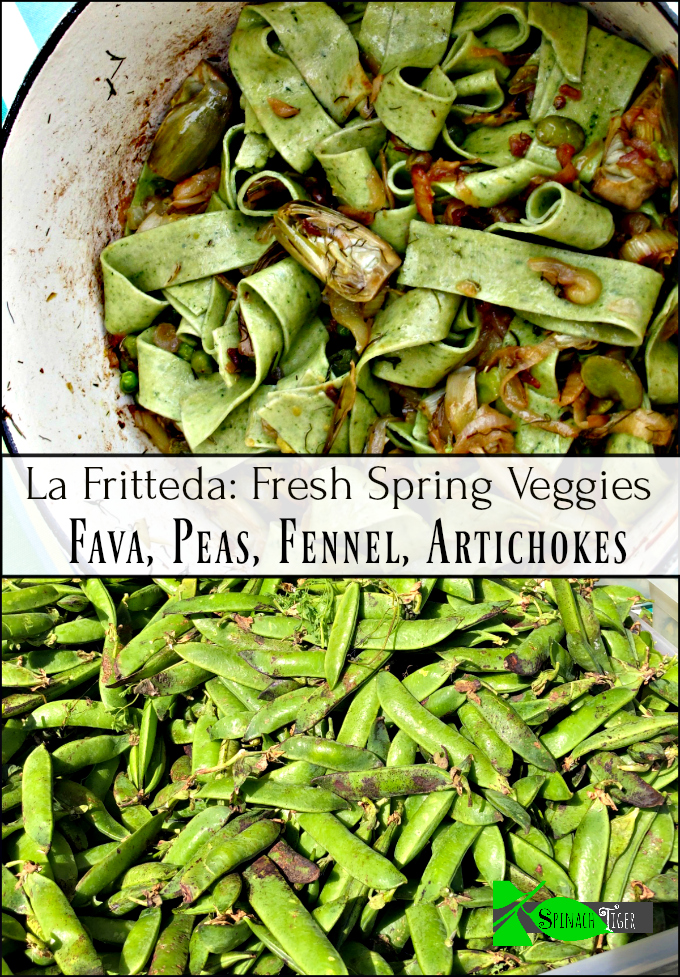 La Friteda. Pasta with Fava Beans and Spring Vegetables inspired by Marcella Hazan.
