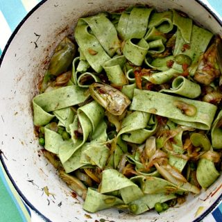 La Fritteda, Pasta with Fava Beans, Fennel, and Onions
