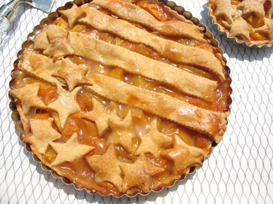 Stars & Stripes Peach Pie