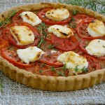 French Tomato Tart with Goat Cheese