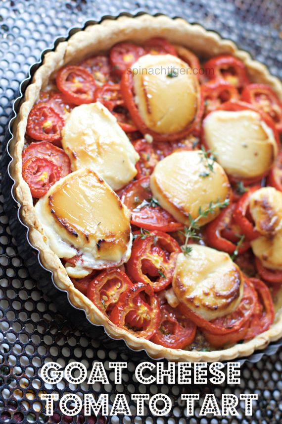 Goat Cheese, Honey, Tomato Tart