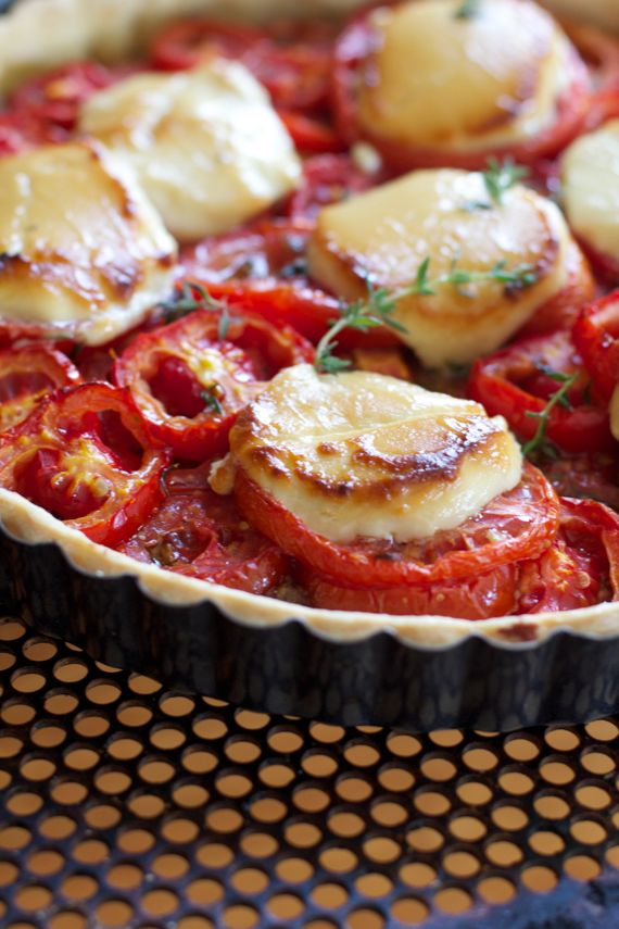 Goat Cheese Honey Tomato Tart by Spinach tiger