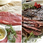 flank steak with blackberry honey marinade by Angela Roberts