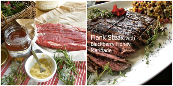 Flank Steak in Blackberry Honey Marinade
