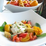 Heirloom Tomato Panzanella with Poached Eggs