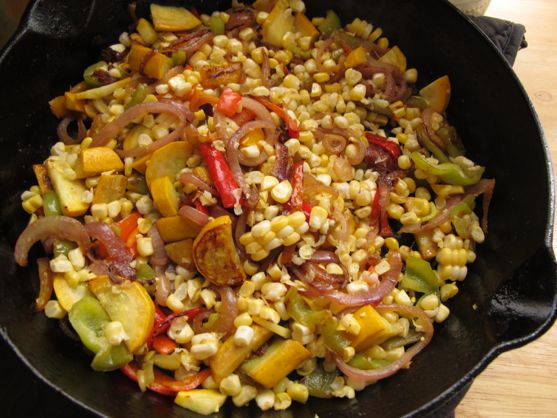 Corn and Zucchini Stir Fry