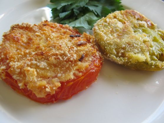 Parmesan Crusted Fried Green Tomatoes
