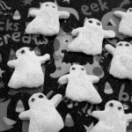 Bats for Ghost Cookies and Baking with Toddlers