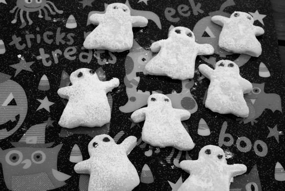 Post image for Bats for Ghost Cookies and Baking with Toddlers